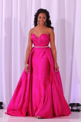 Queenly size 0 Jovani Pink A-line evening gown/formal dress