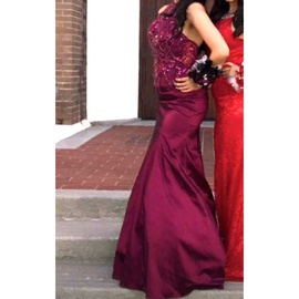 Mori Lee Red Size 2 Sequin Train Mermaid Dress on Queenly