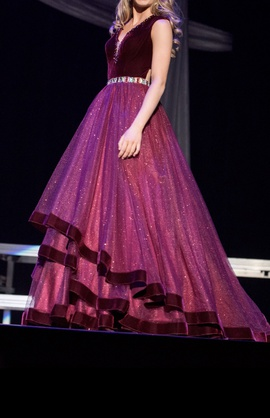 Tiffany Designs Red Size 0 Maroon Ball gown on Queenly