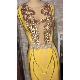 Yellow Size 20 Mermaid Dress on Queenly