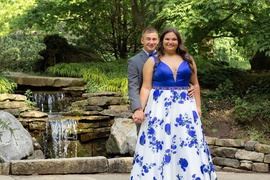 Queenly size 24 Landa Blue Ball gown evening gown/formal dress