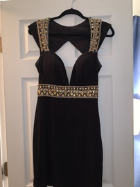 Queenly size 8  Black Cocktail evening gown/formal dress