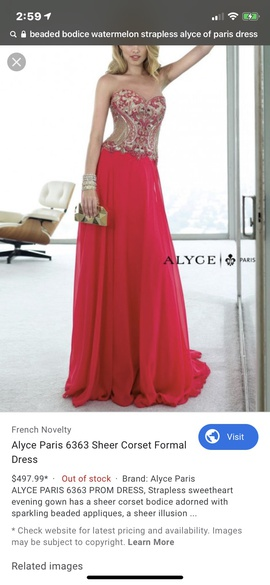 Alyce Paris Red Size 10 Sweetheart Strapless Ball gown on Queenly