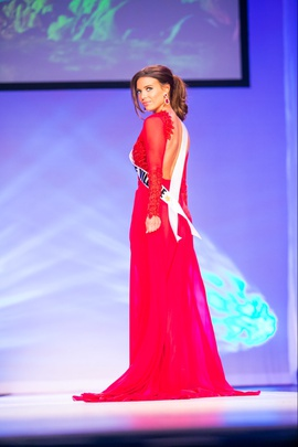 Michael Costello Red Size 4 Train Overskirt Side slit Dress on Queenly
