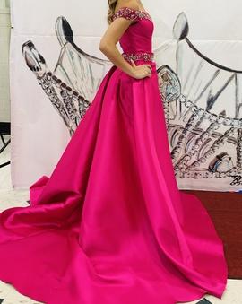 Vienna Pink Size 0 Silk Overskirt Train Dress on Queenly