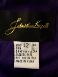 Sherri Hill Purple Size 12 Plus Size V Neck Party Shiny A-line Dress on Queenly