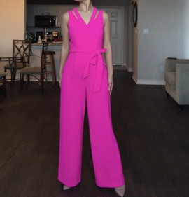 Queenly size 4  Pink Romper/Jumpsuit evening gown/formal dress