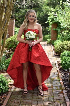 Sherri Hill Red Size 4 Prom Train Dress on Queenly