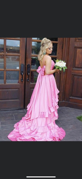 Sherri Hill Pink Size 4 Train Dress on Queenly