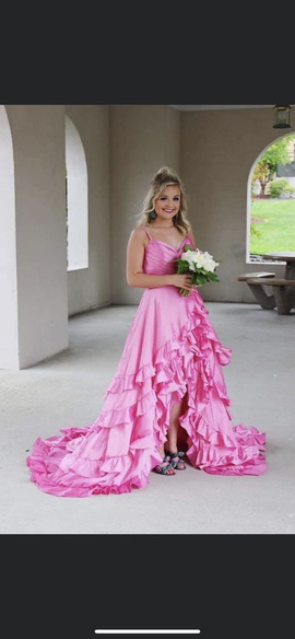 Queenly size 4 Sherri Hill Pink Train evening gown/formal dress