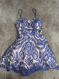 Blue Size 6 Cocktail Dress on Queenly