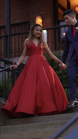 Sherri Hill Red Size 0 Prom Pockets Ball gown on Queenly