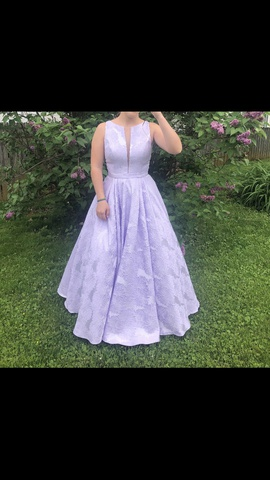 Queenly size 6 Sherri Hill Purple Ball gown evening gown/formal dress