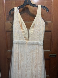 Queenly size 12 Ritzee Nude Straight evening gown/formal dress