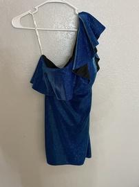 Ellie Wilde Blue Size 12 Straight Dress on Queenly