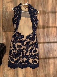 Sherri Hill Blue Size 4 A-line Dress on Queenly