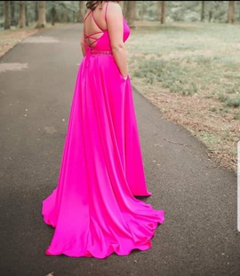 Tiffany Designs Pink Size 14 Train Side slit Dress on Queenly