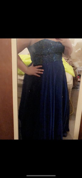 Queenly size 18  Blue Straight evening gown/formal dress