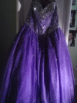 Queenly size 16 Tiffany Designs Purple Ball gown evening gown/formal dress