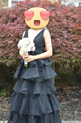 Queenly size 2 Sherri Hill Black Ball gown evening gown/formal dress