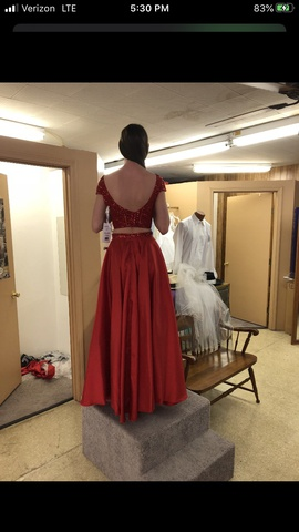 Sherri Hill Red Size 6 A-line Dress on Queenly