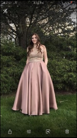 Nude Size 12 Ball gown on Queenly