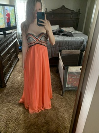 Queenly size 4  Multicolor Ball gown evening gown/formal dress