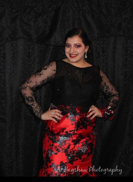 Queenly size 12 Clarisse Black Mermaid evening gown/formal dress