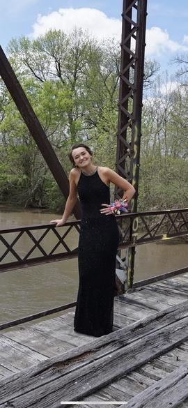 Sherri Hill Black Size 0 Prom Halter Straight Dress on Queenly