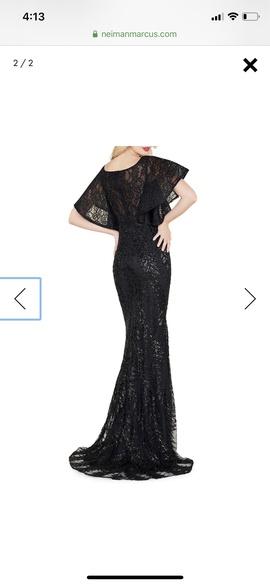 Mac Duggal Black Size 12 Sleeve Train Sleeves Mermaid Dress on Queenly