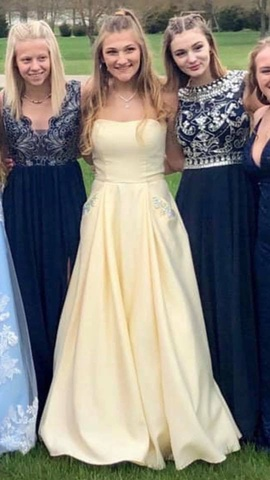 Yellow Size 6 Ball gown on Queenly