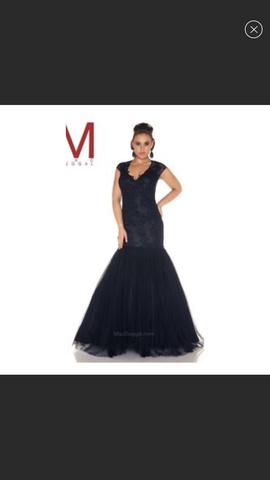 Mac Duggal Black Size 14 Plus Size Prom Mermaid Dress on Queenly