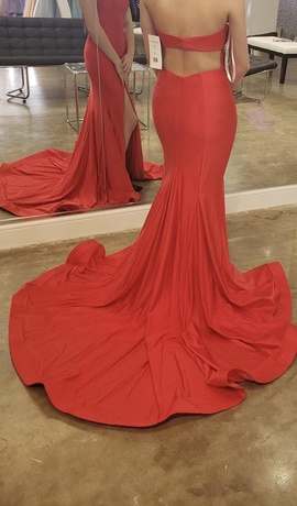 Sherri Hill Red Size 2 Side Slit Straight Dress on Queenly