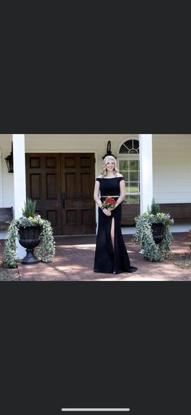 Sherri Hill Black Size 12 Side slit Dress on Queenly