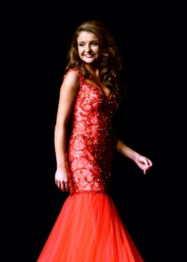 Mac Duggal Red Size 00 Jewelled Sequin Ball gown on Queenly