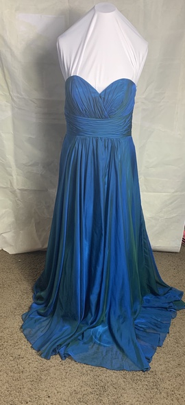 Alyce Paris Blue Size 14 Sweetheart A-line Dress on Queenly
