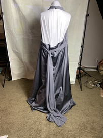 David's Bridal Silver Size 24 Plus Size A-line Dress on Queenly
