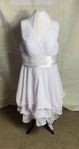 Queenly size 20  White A-line evening gown/formal dress