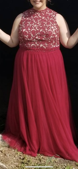 Queenly size 20  Red Ball gown evening gown/formal dress