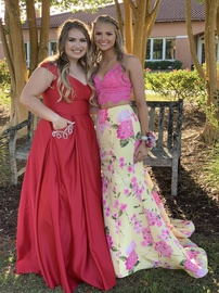 Sherri Hill Multicolor Size 6 Prom Two Piece Lace Mermaid Dress on Queenly
