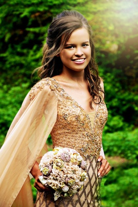 Rachel Allan Rose Gold Size 2 Sequin Straight Dress on Queenly