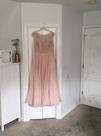 Queenly size 18  Pink A-line evening gown/formal dress