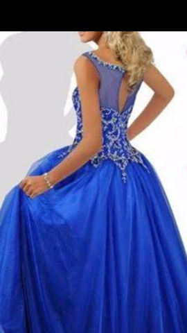 Ritzee Blue Size 6 Ball gown on Queenly