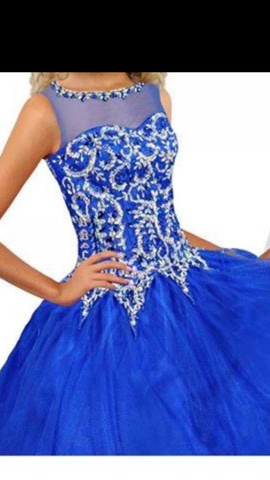 Queenly size 6 Ritzee Blue Ball gown evening gown/formal dress