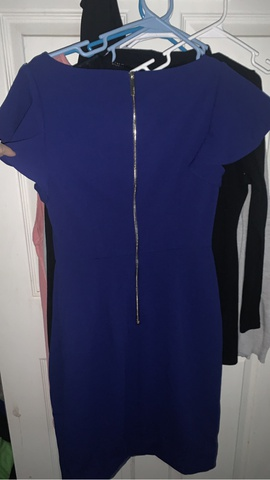 Calvin Klein Blue Size 4 Interview Straight Dress on Queenly