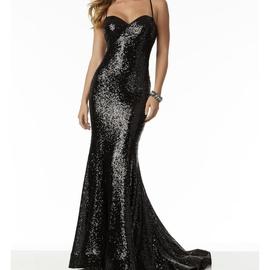 Mori Lee Black Size 8 Sweetheart Shiny Mermaid Dress on Queenly