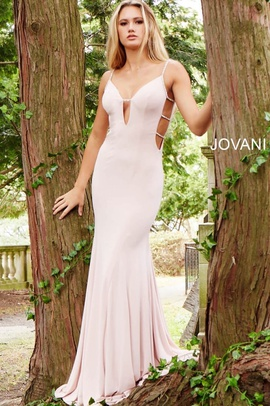 Jovani Pink Size 10 Prom Cut Out Mermaid Dress on Queenly