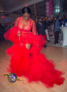 Queenly size 4  Red Train evening gown/formal dress