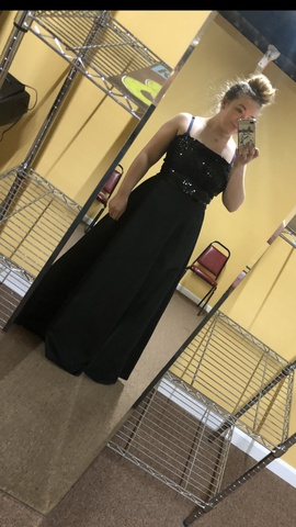 Queenly size 10  Black Ball gown evening gown/formal dress