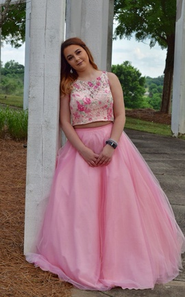 Mori Lee Pink Size 10 Ball gown on Queenly